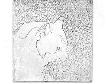 Muta (intaglio etching print)