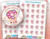 30 pegatinas de planificador de Linda agua plantas/flores/jardín Filofax, Erin Condren, planificador feliz, Kawaii, Cute pegatina, Reino Unido