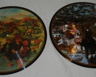 Double Album Picture Disks of the soundtrack of the animated Lord of the Rings movie - 2 disks with 4 images from the movie            15-10