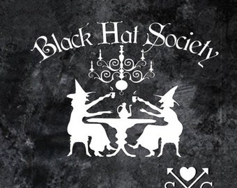 Witches Black Hat Society Car Decal Window Decal