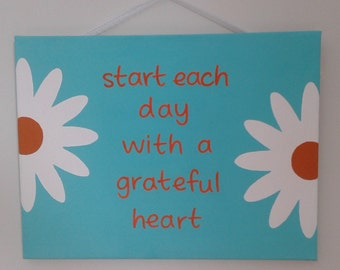 Hand painted acrylic stretched canvas painting 12X16 Inspirational art