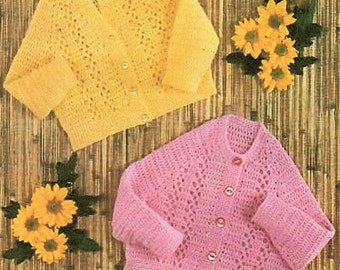 Baby Cardigans, Crochet Pattern. PDF Instant Download.