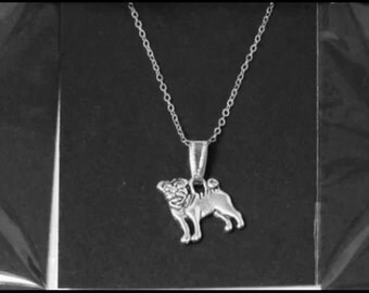 Homemade Jewellery By Laura - Cute Pug Pendant Necklace