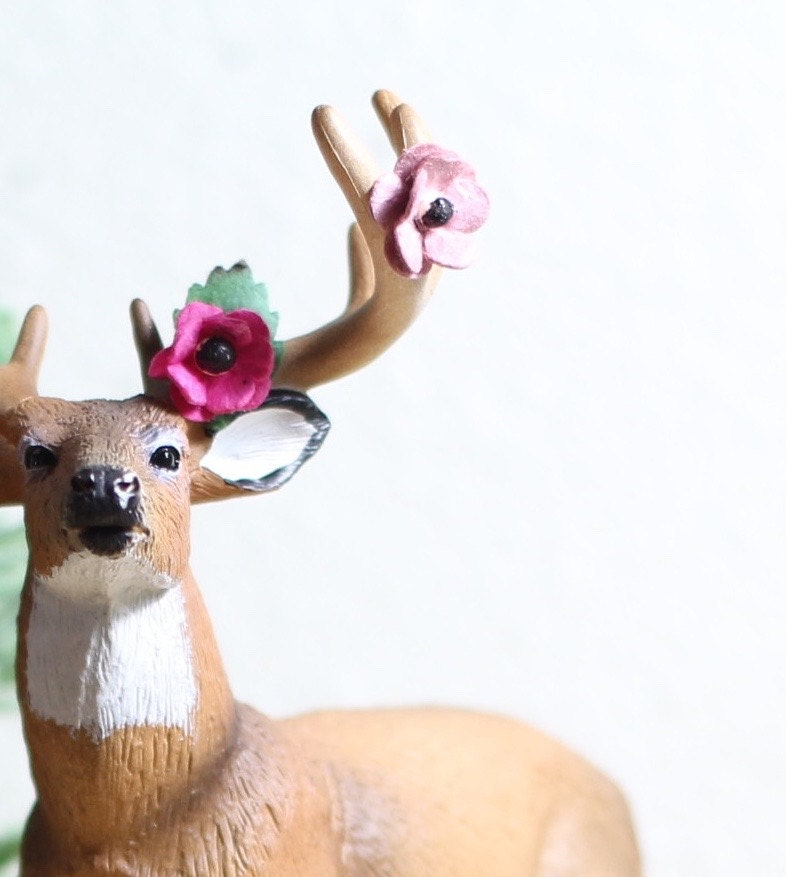 rustic baby shower decorations deer cake topper by halfpintfauna