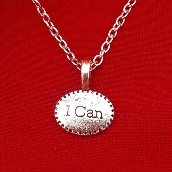 I Can Charm Necklace Earrings Set, Fitness Jewelry, CrossFit Runner Gift, I Can Do Hard Things, Motivational Sports Jewelry, Team Coach Gift