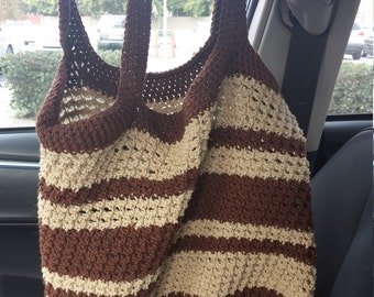 Crocheted Cotton tote - Made to order