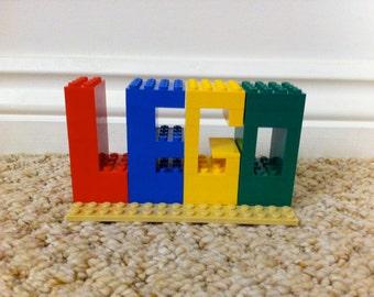 CUSTOM Lego Bricks Sign