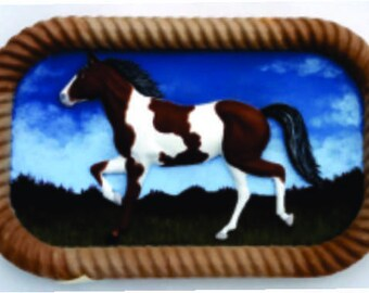 Wooden Paint Horse Wall Hanging