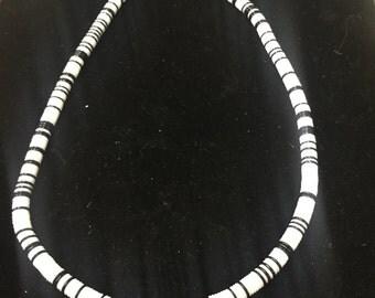 Vintage Retro Necklace/Choker, Black, White!