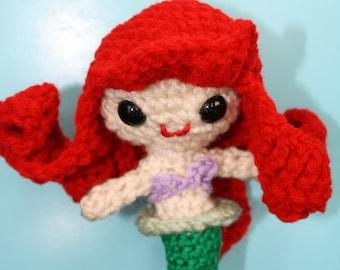 Ariel (The Little Mermaid) Amigurumi Crochet Doll