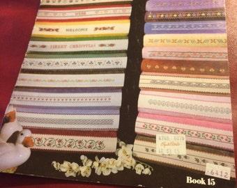 Needlework border pattern book