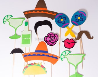Fiesta photo props (other themes available)