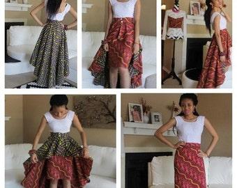 African Detachable Peplum Skirt