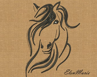 Horse - MACHINE EMBROIDERY DESIGN