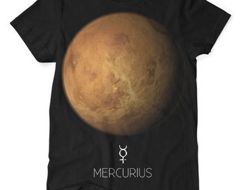 Mercury Planet TShirt Black