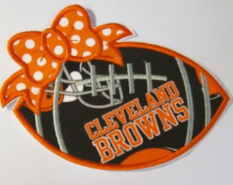 Ready To Ship in 1-3 Business Day - Team Cleveland Browns - Iron On or Sew On Embroidered Applique