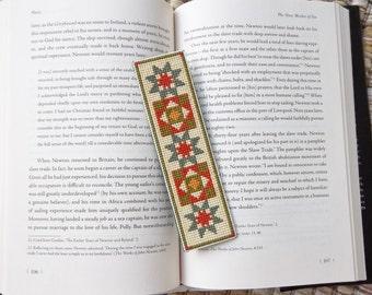FINISHED Symmetrical Pattern Cross Stitch Bookmark