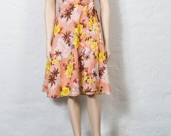 70's Hawaiian Wrap Dress