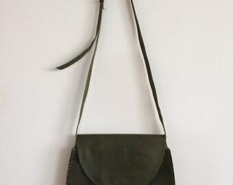 Olive Leather Bag