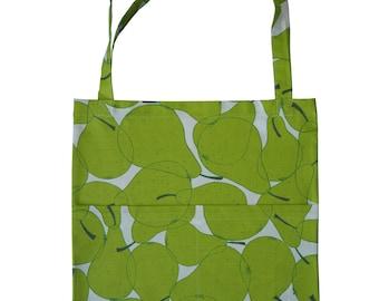 Handmade Pear Cotton Tote Bag