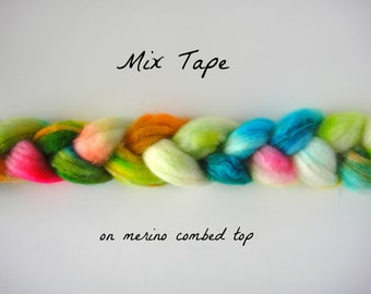 Mix Tape, on Merino Combed Top Roving