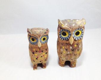 Owl Pals Wooden Sculptures