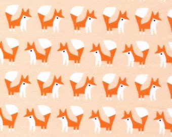 Foxes Pink - Fanfare - Cloud9 Fabrics - Organic Cotton - Flannel by the Yard