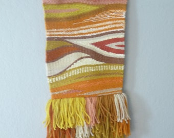 Handwoven Naturally Dyed Wool Tapestry