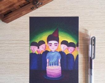 Birthday Celebration Postcard (A Print of an Original Painting)