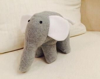 Soft Grey Modern Elephant Softie Toy for Children