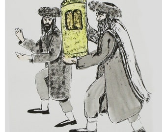Rabbis with the Torah