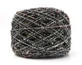 Italian Cotton Viscose Gimp Yarn in Jewel / Millefiori Yarn / 50gm / Knitting Yarn / Crochet Yarn / Weaving Yarn / Specialty Yarn