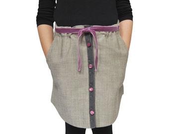 Handmade Skirt with Purple Bow