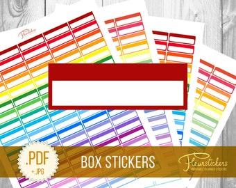Printable Box planner Stickers Printable planner stickers Box stickers Planner stickers  for use with Erin Condren Life planner stickers box