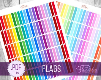 Printable Flag Stickers Planner Stickers Printable Planner Stickers Flag Stickers Flags Planner Stickers  for use with Erin Condren
