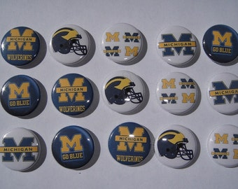 Michigan Buttons Set of 15