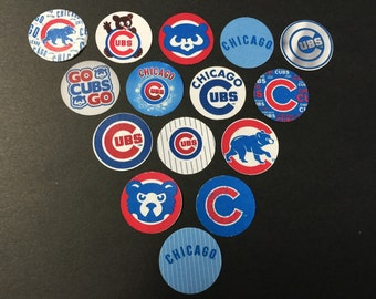 Chicago Cubs Blue Buttons Set of 15