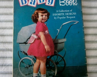 Vintage 1954 Coats & Clarks Knit and Crochet Baby Book, Patterns! Book 507