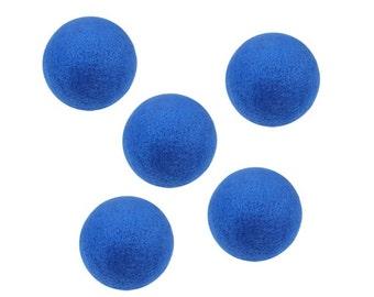 """1.5"""" Blue Felt Balls 10Pk"""