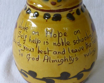 Torquay Pottery Motto Ware Pitcher