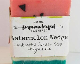 Watermelon Wedge Shea Butter Cold Process Soap Bar