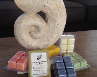 Wax Melts, AKA Wax Tarts or Flameless Candles.  Highly Scented!