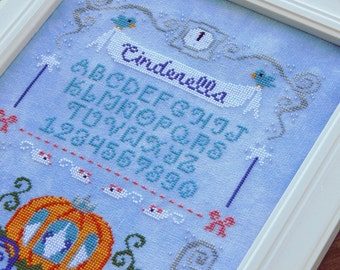 The Pumpkin Carriage Sampler - A Cinderella Cross Stitch Pattern