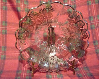 """Sterling silver overlay bowl 11"""" round"""