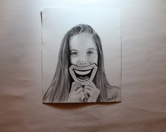 Custom pencil portrait drawing from your photo.