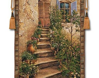 Tuscan Villa II Large Wall Hanging Fine Art Tapestry