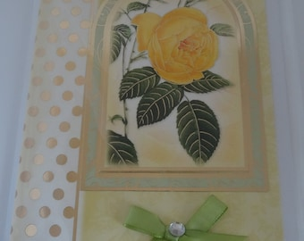 Birthday Card with Roses - Cardtwocard