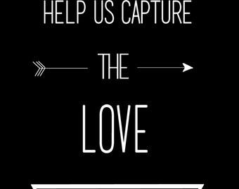 Customizable Instagram Wedding Hashtag Sign- 4x6 Digital Print