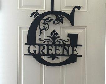 Custom door name sign