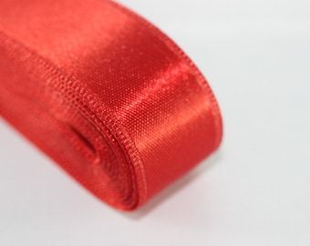 10 meters (10.90 yrds) Red Satin Ribbon - Double Sided Satin Ribbon, Silky Ribbon - Satin Ribbons